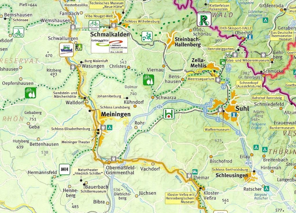 Karte Haseltal Radweg