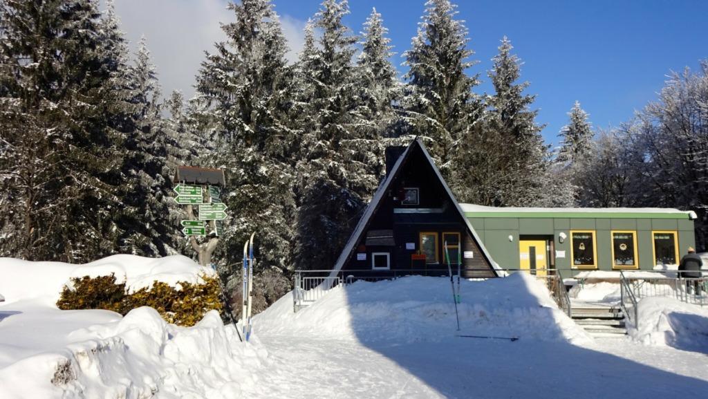 Berghütte Adlersberg im Winter