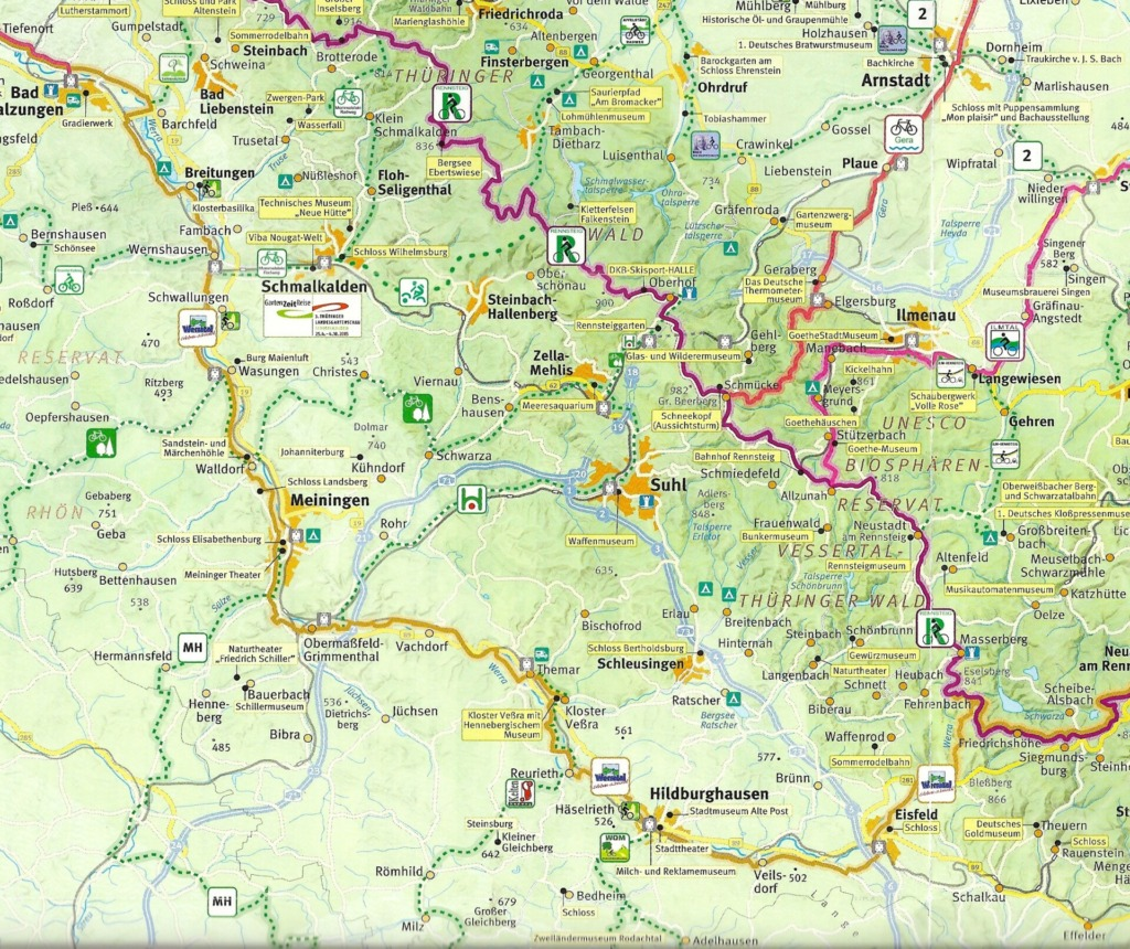 Karte Werratal Radweg