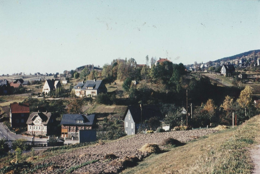 Autobrücke im Herbst 1964