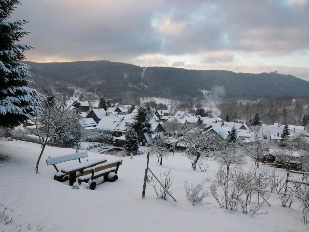 Blick über den Ort hinüber zum Ringberg