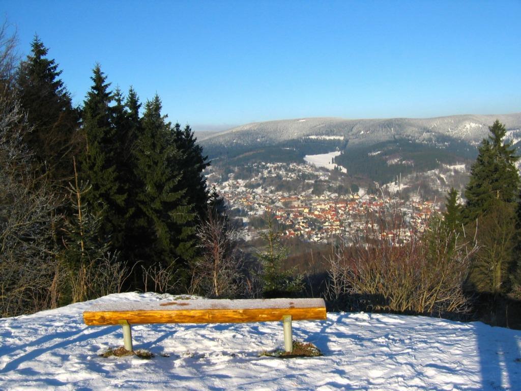 Blick vom Rimbachbrunnen auf den Ort