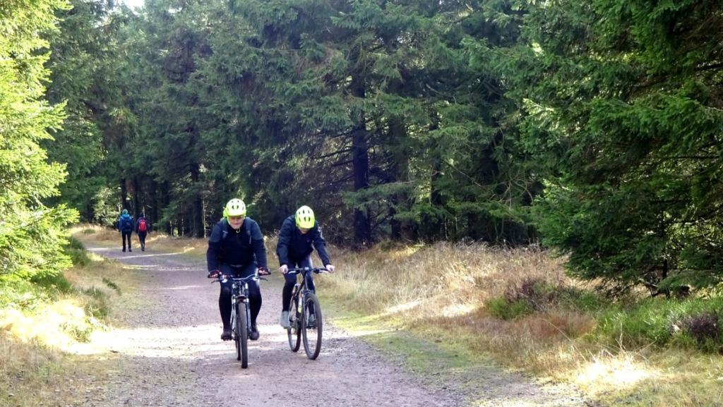 Fahrradfahrer am Rennsteig
