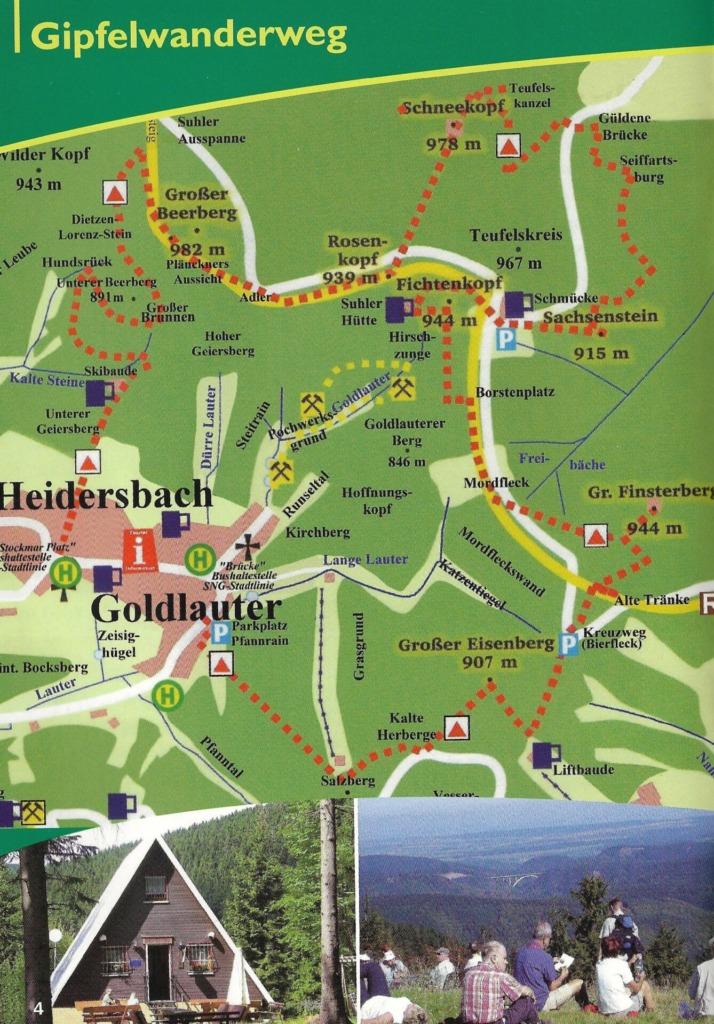 Karte Gipfelwanderweg