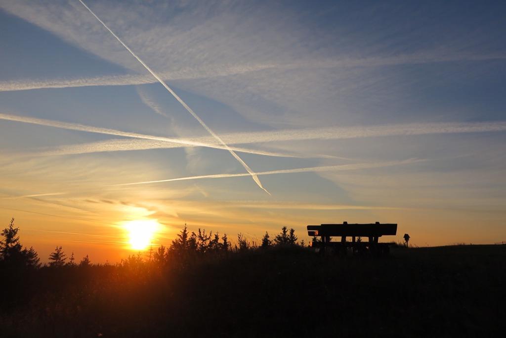 Herrlicher Sonnenuntergang auf dem Schneekopfplateau