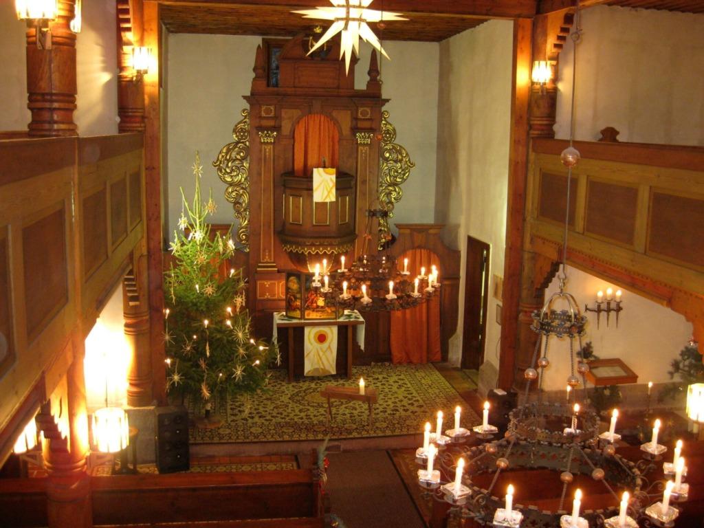 Innenansicht Heidersbacher Kirche