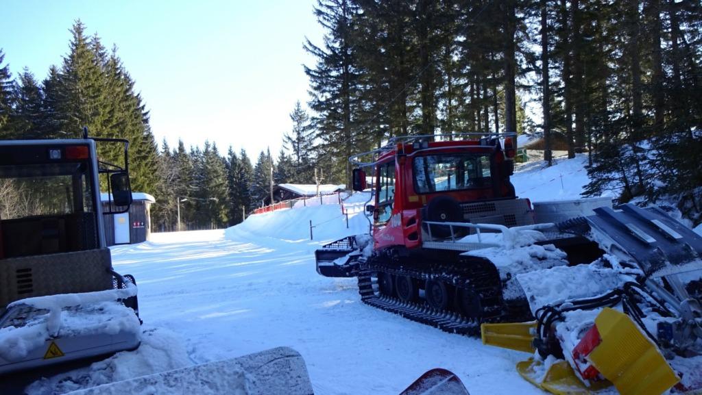 Skistadion im Winter