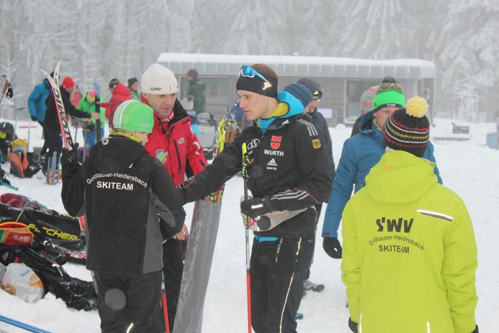 Skiwettkampf an der Ausspanne