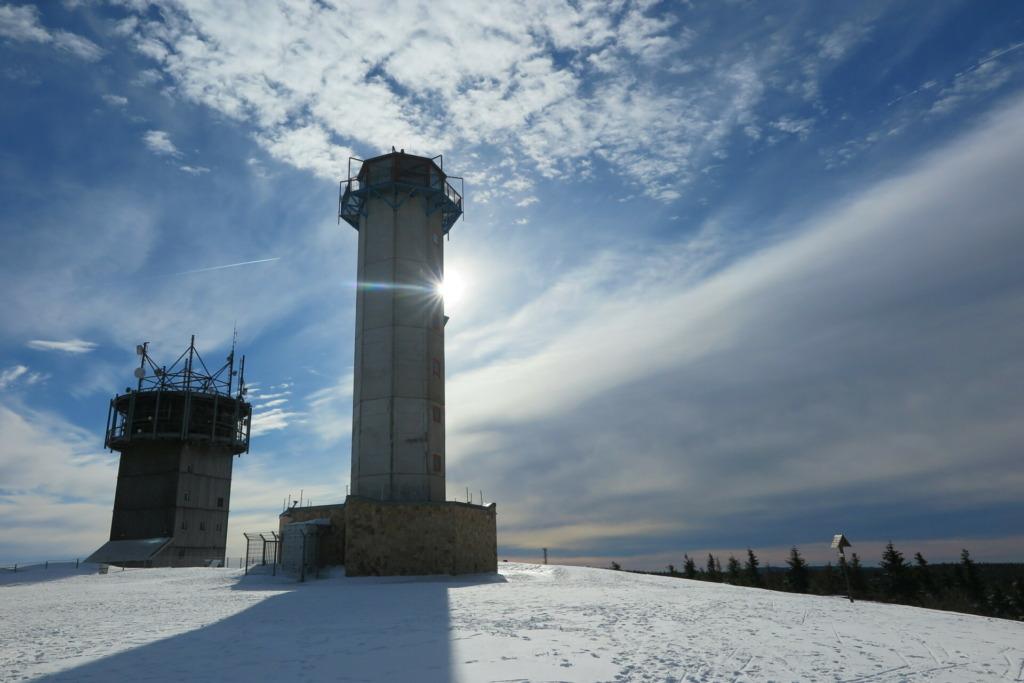 Winterimpression vom Gipfel des Schneekopfes